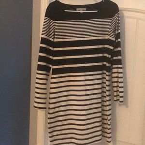 Banana Republic Striped Shift Shirt Dress